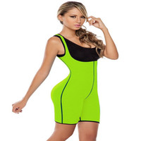 Wholesale Slimming Corset Body Shapers - Women Sweat Fitness Shapers Thermal Bodysuit Full Body Shaper Sauna Slimming Waist Trainer Corsets