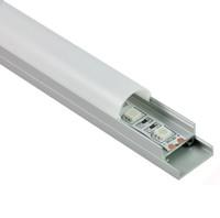 plafones lámparas al por mayor-50 X 1M fijan / porción perfil de aluminio de la forma redonda llevado y canal llevado arco con la placa para las lámparas del techo o de la pared