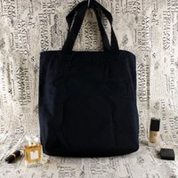 Wholesale medium gym bags - With Luxury logo shopping Bag Gym Thick canvas Bags Travel tote Bag Women canvas Wash Bag Cosmetic Makeup Storage Case