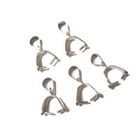 fianzas de plata esterlina al por mayor-10pcs / lot 925 Sterling Silver Pinch Clip Bail para DIY Craft Fashion Jewelry Gift W19 envío gratis