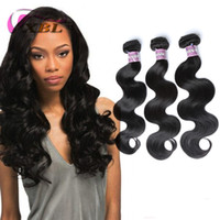 Wholesale Wet Wavy Hair Extensions - XBL Body Wave Human Hair Extensions Wet And Wavy Virgin Brazilian Hair 3 4 Pieces One Set