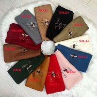 Wholesale Plain Pink Scarf Winter - 2018 NEW G scarf women winter fashion knit Muffler Italy luxury brand scarves shawls echarpe foulard femme Embroidered bee shawl