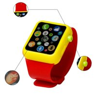 Wholesale Touch Screen Educational Toys - Kids Children Smart Watch Early Education 3D Touch Screen Music Smart Watch Learning Machine ABS Wristwatch Toy for Christmas present