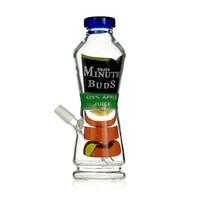 "Wholesale painted glass bottles - Juice Bottle Bong 8"" inches Spary Paint Can Glass Hookahs Enjoy Minute Buds 420% Juice Coke Bottle Glass Bubbler Pipes"