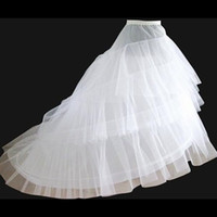 Wholesale Ladies Petticoats - Brand New Petticoats with Train for Weddings & Events White 3 Layers Formal Dress Wedding Crinoline Bridal Accessories Lady Girls Underskirt