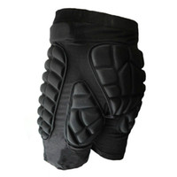 Wholesale snow gear - Wholesale- Outdoor Sports Black Protective Hip Padded Shorts Snow Skate Snowboard Skiing Riding Pants Botton Protection Protector Gear