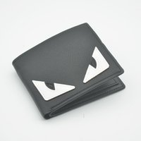 Wholesale Lycra Masculina - Best quality Fashion Men Purse Famous Brand Fending Small monster Short Wallet leather soft bifold credit card wallets arteira Masculina