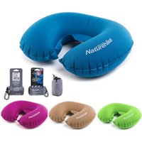 Wholesale Inflatable Weight - Wholesale- U Shaped AIR Pillow Inflatable Portable Travel Neck Cushion Camp Beach Car Plane Head Rest Bed Sleep Light Weight EasyTo Carry