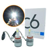 Wholesale Led H8 - H8 H9 H11 LED headlamps kit car headlights WITH COB chip 9006 9005 HB3 HB4 Auto LED headlamp bulbs led 36W 3800LM