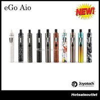 Wholesale Ego Kit Batteries - Joyetech eGo Aio Kit with 2.0ml Capacity 1500mAh Battery Anti-leaking Structure and Childproof Lock All-in-one Style Kit 100% Original