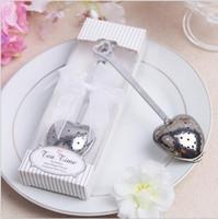 favores de la boda infusor de té al por mayor-Té en forma de corazón Infusor Favores y regalos de boda Suministros de boda Recuerdos Regalos de boda para huéspedes