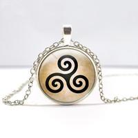 ingrosso collana argentata-Steampunk c Triskele Triskelion Allison Argent tempo gemme gioielli ciondolo collana