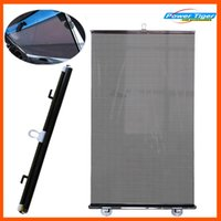 Venta al por mayor- 50 * 125cm Película solar Auto Car Sun Shade Frontal y trasero Side Window Sun Screen Cortina Solar Protections - Black