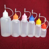 ego e sıvı plastik şişe toptan satış-İğne Şişeleri 5ml 10ml 15ml 20ml 30ml 50ml E-sıvı Boş Şişe İğne Şişe EGO Serisi E Sigara için Plastik Boş Damlalıklı Şişeler