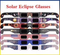 Wholesale USA Solar on th August Solar Eclipse Glasses Paper Glass Viewing Eyeglasses Protect Your Eyes Free Fast Shipping