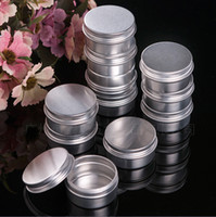 Wholesale Empty Box Nails - 1000PCS 30ml screw on lids Empty Aluminium Nail Art Cream Cosmetic Lip Gloss Lipstick Lip Balm Containers Bottles