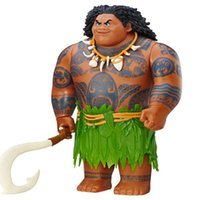 Wholesale Music Boxes For Gift - 20Cm Movie Moana Waialiki Maui Action Figures Toys Model Dolls With Music For Girls Kids Lover Christmas Gifts With Original Box