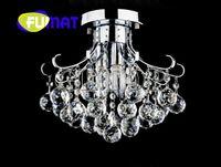 lâmpadas de cristal elegante venda por atacado-FUMAT Estilo Europeu Crystal Foyer Lâmpadas Com Lâmpadas LED Circular Luxo Novidade Iluminação Para Corredor Corredor FashionElegant