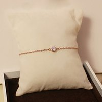 Wholesale gold chain price for women resale online - 316L Titanium steel Best price Super Cute Lucky One round diamond bracelet in cm for women wedding gift Jewelry PS5282