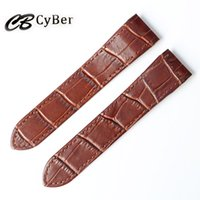 Wholesale Interface Leather - Cbcyber 20mm women watch strap Genuine leather Special interface Watchbands For Luxury watches bracelet belt Fast delivery Steel deploym