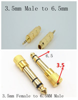 Wholesale 3 mm Male to mm mm Female to MM Male Stereo Headphone Microphone Audio Adapter Converter Gold Plated