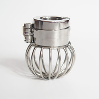 Wholesale Cock Ball Chastity Devices - Stainless Steel Ball Stretcher Cock Ring Adult Sex Toys Bondage Gear Penis Restraints Male Chastity Device BDSM Scrotum Pendant Ball Weight