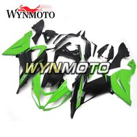 Wholesale Zx6r Frame - Full Fairings for Kawasaki ZX-6R ZX6R 2013 - 2016 13 14 15 16 Plastics Injection Motorcycle Fairing Kit ABS Body Frames Green Black