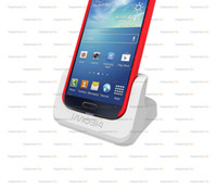 Wholesale S4 Docks - Cover-mate Dual Cradle Desktop Dock battery Charger for Samsung Galaxy S4 with Audio out