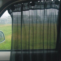 couvertures de fenêtre de maille achat en gros de-2pcs / set type de ventouse voiture pare-soleil couverture soleil pare-soleil 52 * 80cm ultra maille isolante thermique avant