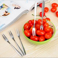 Aço Inoxidável Sobremesa Bolo Fruit Forks Tableware Casa para Party Kitchen Kitchen Tool 12.8 * 0.9CM