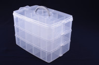 Wholesale 2017 New Fashion Plastic Storage Box Small Hardware Pieces Case Holder Container For Small accessories