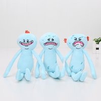 Wholesale Cartoon Happy Face - Cartoon Anime 24cm Rick and Morty Happy & Sad face plush Stuffed Doll Plush Toy Kids Toys Gift 3styles