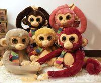 Wholesale Video Games Simulation - TY beanie boos Monkey Plush Toys simulation animal TY Monkey Stuffed Animals super soft 8inch 20cm children gifts EMS shipping E1771