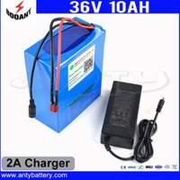 Wholesale Motor Electric Ebike - 36V 10AH 450W Electric Bike Battery 36V For 8Fun Bafang Motor 18650 Cell With 2A Chraeger 15A BMS eBike Battery Free Shipping