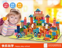 Wholesale Children Building Blocks Early Education Puzzle Baby Wooden Toys Under Years Old