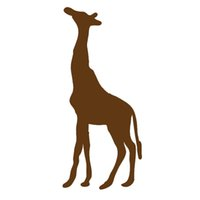 Wholesale Giraffe Head - Wholesale 10pcs lot Cute Wild Animals Giraffe Car Sticker for Truck Window Bumper Laptop Kayak Kindergarten Zoo Home Car Decor Vinyl Decal