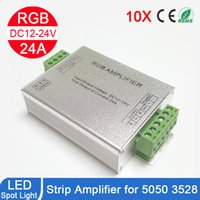 Wholesale Repeater Controllers - 2017 12 24 30 A DC12V-24V Led RGB Strip Amplifier for RGB Led Strip Amplifier Power Repeater Console Controller Top Quality Cheap And Hot