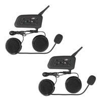 auricular bluetooth auricular de la motocicleta al por mayor-2x BT Motocicleta impermeable y Scooter Auricular Bluetooth / Intercom Casco deportivo Intercom Bluetooth Interphone Headset 1200m Rider