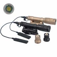 Wholesale Hard Anodizing - Tactical SF M620V Scout Light Gun light Hard Anodizing QD LED Dual-Output Flashlight Black