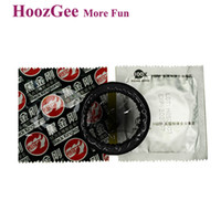 Wholesale Kong Sex Toy - HoozGee Pleasure More Black King Kong Condoms Sex Products, Male Latex Condoms Sexual Health Adult Sex Toys 100pcs lot