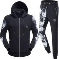 Wholesale Casual Cotton Belts For Men - Luxury Tracksuit Men Jacket Philipp-Plein Jogging Suits for Men Casual Outerwear Autumn Winter Clothing Sportswear Tracksuit Hoodies Jacket