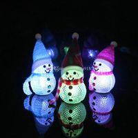 Wholesale Night Sleep Wholesale - 2017 6inch Christmas Gift Lovely Santa Table Decor LED Light Changing Christmas Snowman LED Light Night Lamp Brand E1770