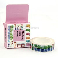 Wholesale Adhesive Bottle Labels - Wholesale- 2016 1x 1.5cm Wide Cute All Bottles Washi Tape Adhesive Tape DIY Crafts Scrapbooking Sticker Label Masking Tape Decorative