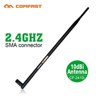 Wholesale High Gain Wifi Antenna Indoor - Wholesale- 6pcs lot Comfast wireless wifi antenna 10dBi SMA Copper Connector Indoor Omni direction Antenna high gain wifi cable antenna