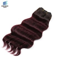 300g Deux tons Ombre Extensions de cheveux humains Loose Deep Hair Weave T1b 30 Auburn 99j Bourgogne Miel Blonde Coloré Brazilian Remy Hair
