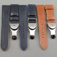 Wholesale 559 Fashion - P377 378 559 Leather 22mm Strap 316L Deployment Buckle Watch Bands(only the strap+buckle) Business Style