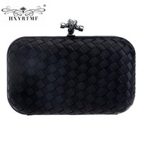 All'ingrosso-Fashion New Brand Women Weave Evening Bag Donna Duro lusso Borse Borse da donna Designer Per la cena di partito formale frizione Borsa