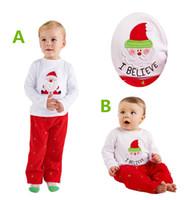 153b602dc91d4 Ensemble de Noël Cute Santa Tops + Pantalons Costume pour enfant Bébé  garçon vêtements pour bébés vêtements pour enfants enfants Xmas Winter  Toddler 2Pcs ...