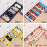 Kawaii Welcome Floor Mats Animal Cat Printed Bathroom Kitchen Carpets Doormats Mat For Living Room Anti Slip Tapete 0711027