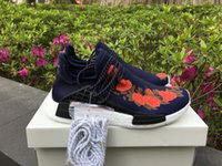 Wholesale X Men Art Print - With Box PW HU NMD X Running Shoes for Men 2017 New Fashion Floral Printed Pharrell Williams NMD Runner Sneakers Boots Size 40-45